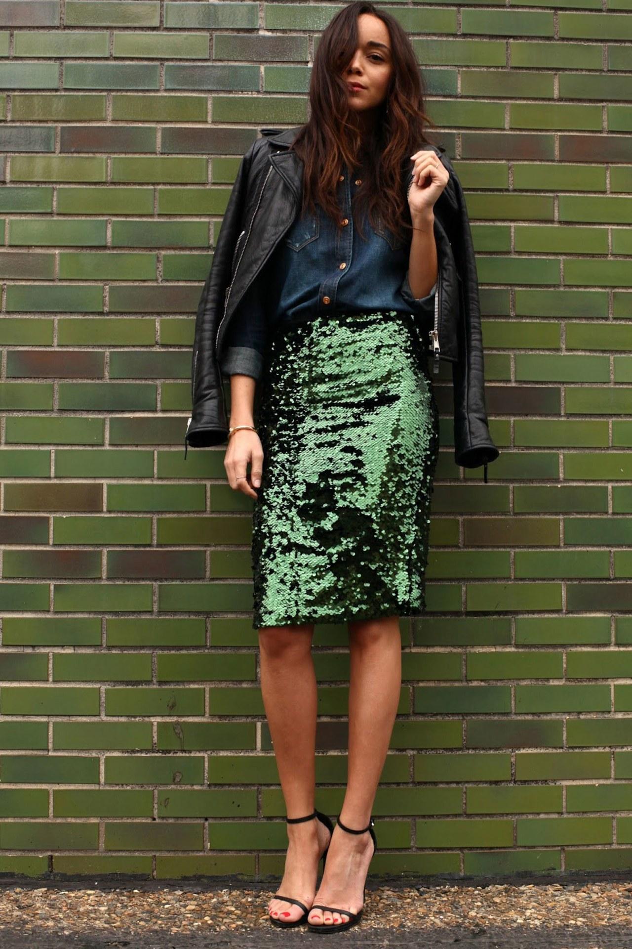 sequin skirt outfit ideas ring my bell tvutpvu