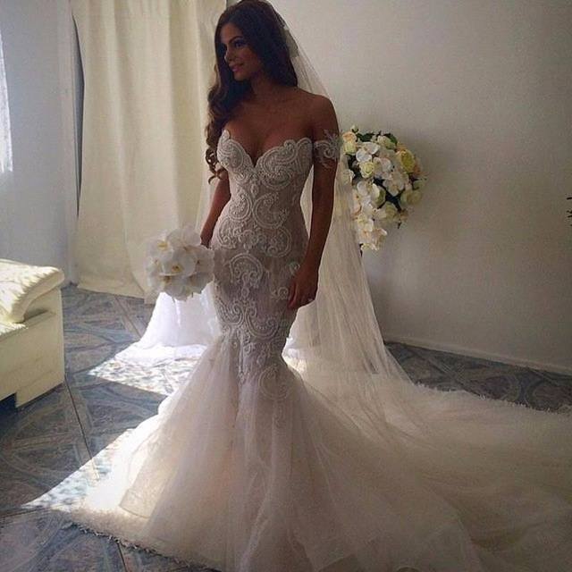 sexy wedding dresses romantic beautiful mermaid wedding dresses sweetheart backless lace  embroidery vestido de noiva utartgo