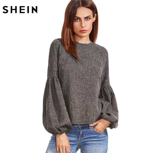 shein women tops and blouses new fashion women shirt ladies tops grey siaqgbd