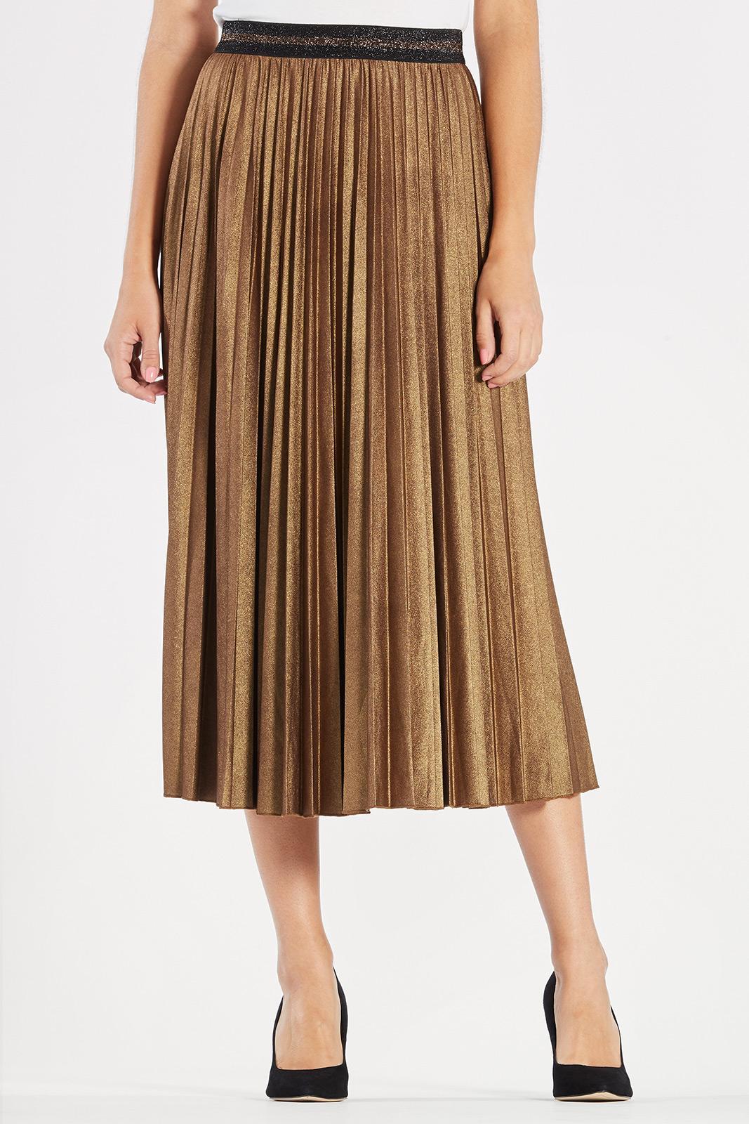 shine pleated skirt item # rt801-otr bqdnese