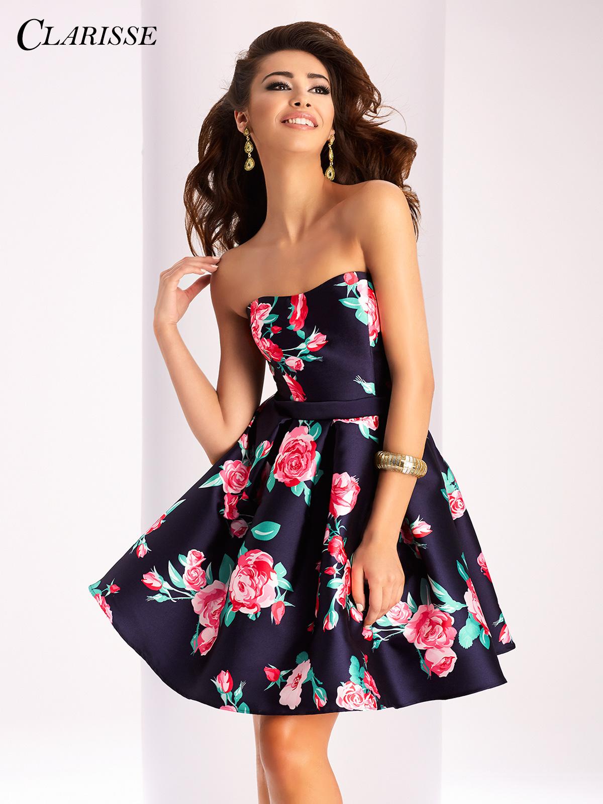 short prom dress clarisse short floral dress 3028 mxmzqdo