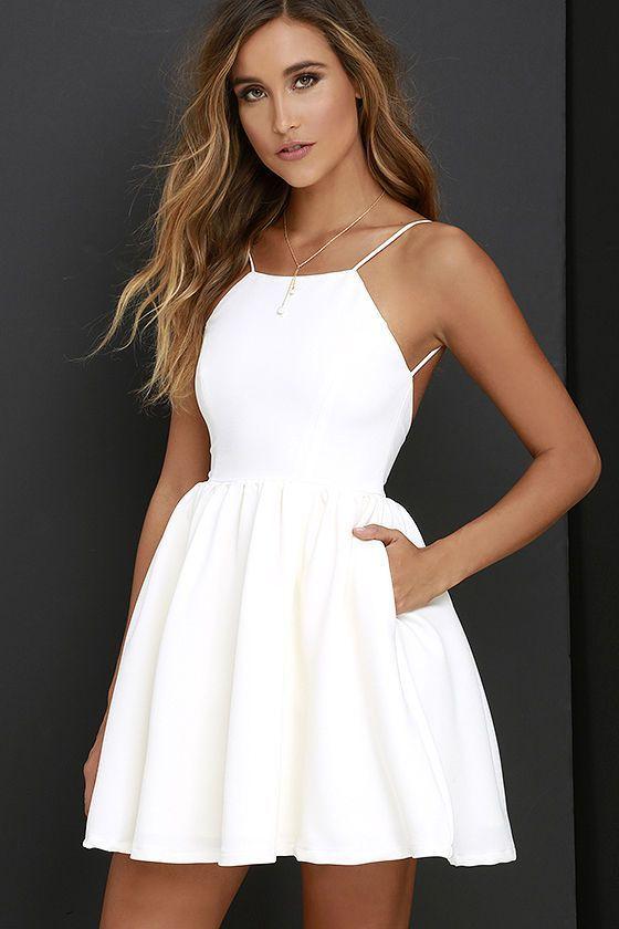 short white dresses 2017 popular white short dress,cheap dress,mini simple sexy prom dress,high  ... pbmjhlp