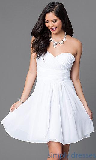 short white dresses cheap short sweetheart wedding-guest corset dress . xiwgeew