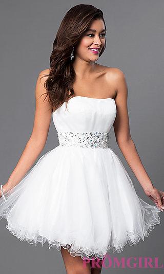 short white dresses designer babydoll party dress with corset - promgirl tezntkg