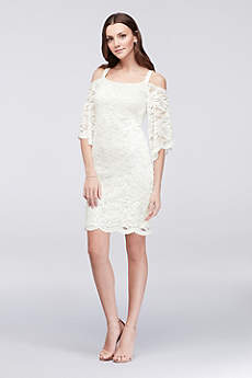 short white dresses short sheath 3/4 sleeves cocktail and party dress - robbie bee cjymohz
