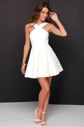 short white dresses white homecoming dress,simple homecoming dresses,satin homecoming gowns, shortu2026 | dances | pinterest | odyfpgi
