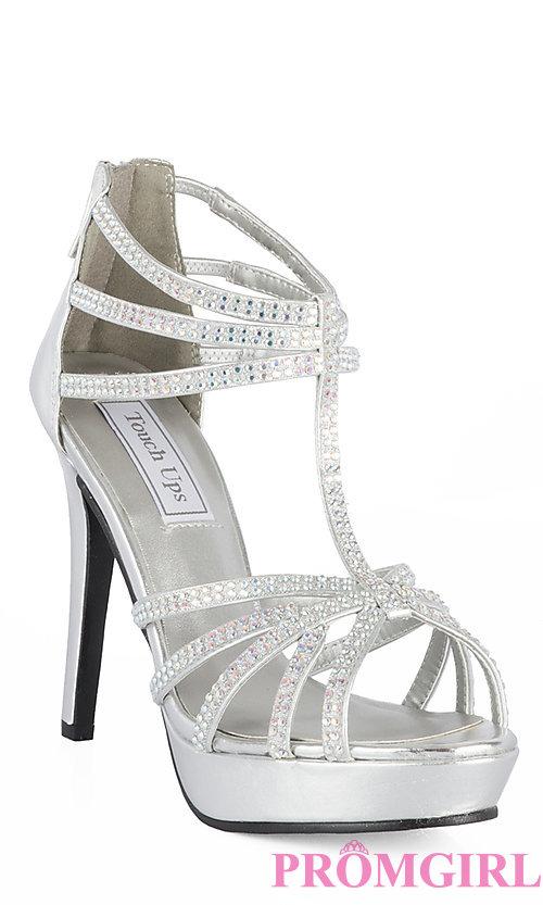 silver prom shoes style: tu-546m-toni front image slxhadj