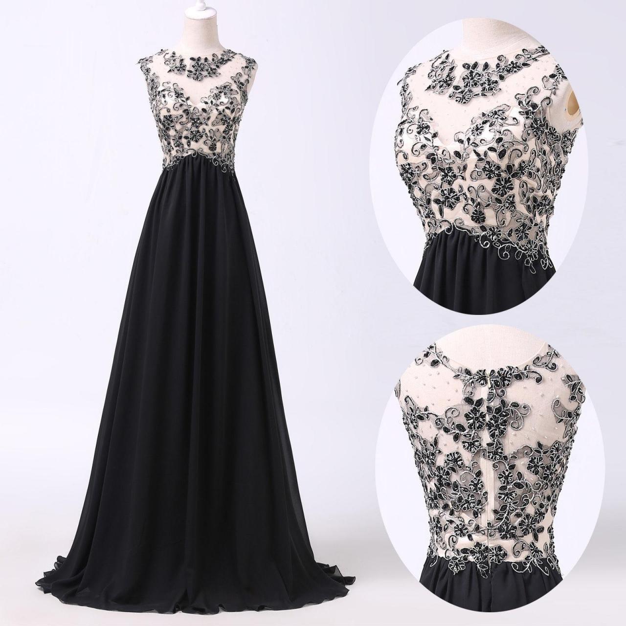 simple dresses a line prom dresses,black lace prom dress,simple prom dress,modest evening  gowns,cheap party hpivmye