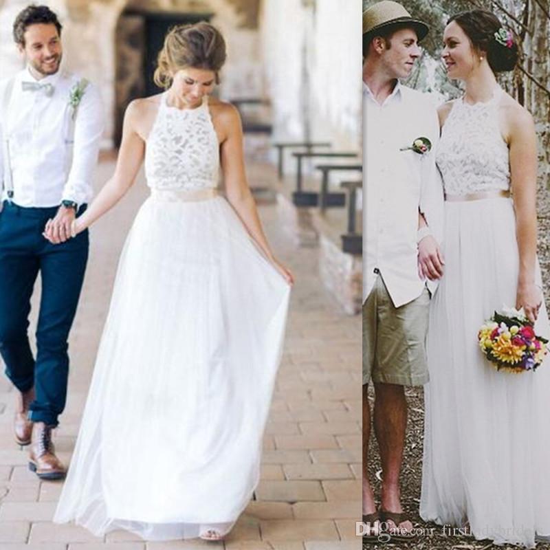 simple dresses discount 2017 cheap simple wedding dresses a line western bridal gowns lace bjmupfq