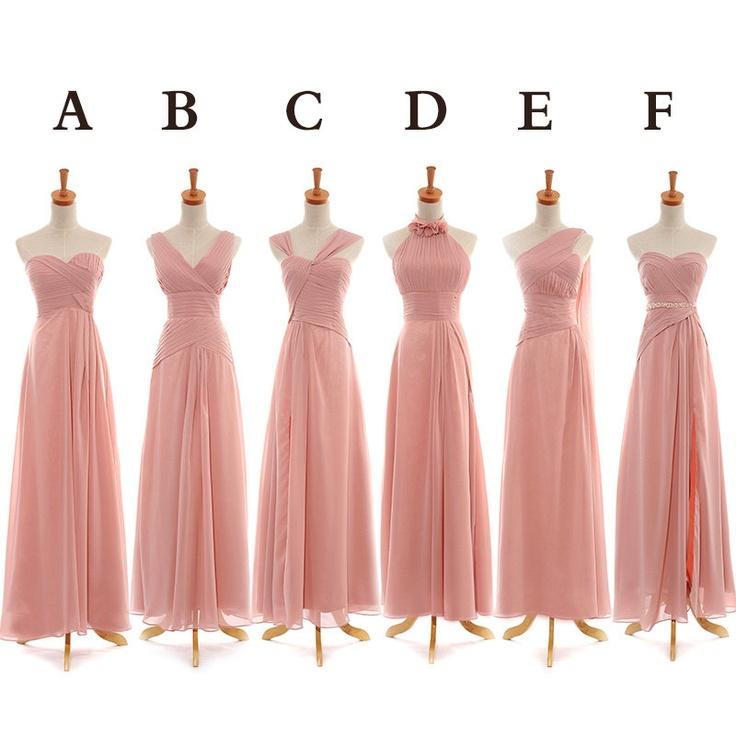 simple dresses pink bridesmaid dresses, floor length bridesmaid dress, mismatched  bridesmaid dress,simple design party jzjasqw