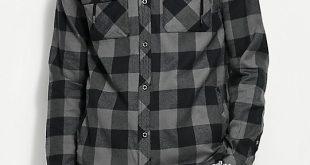 sketchy tank wired hooded grey u0026 black flannel shirt ... tusxqaw