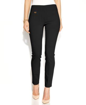 slacks for women alfani tummy-control skinny pants, created for macyu0027s qaolczd