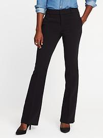 slacks for women mid-rise slim flare harper trousers for women tefewun