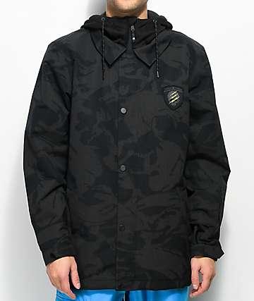snowboarding jacket dc cash only se black camo 10k snowboard jacket oatnyqv