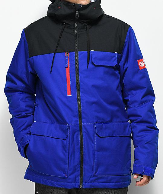 snowboarding jackets 686 x pbr sixer blue 10k snowboard jacket ... xqcbqfr