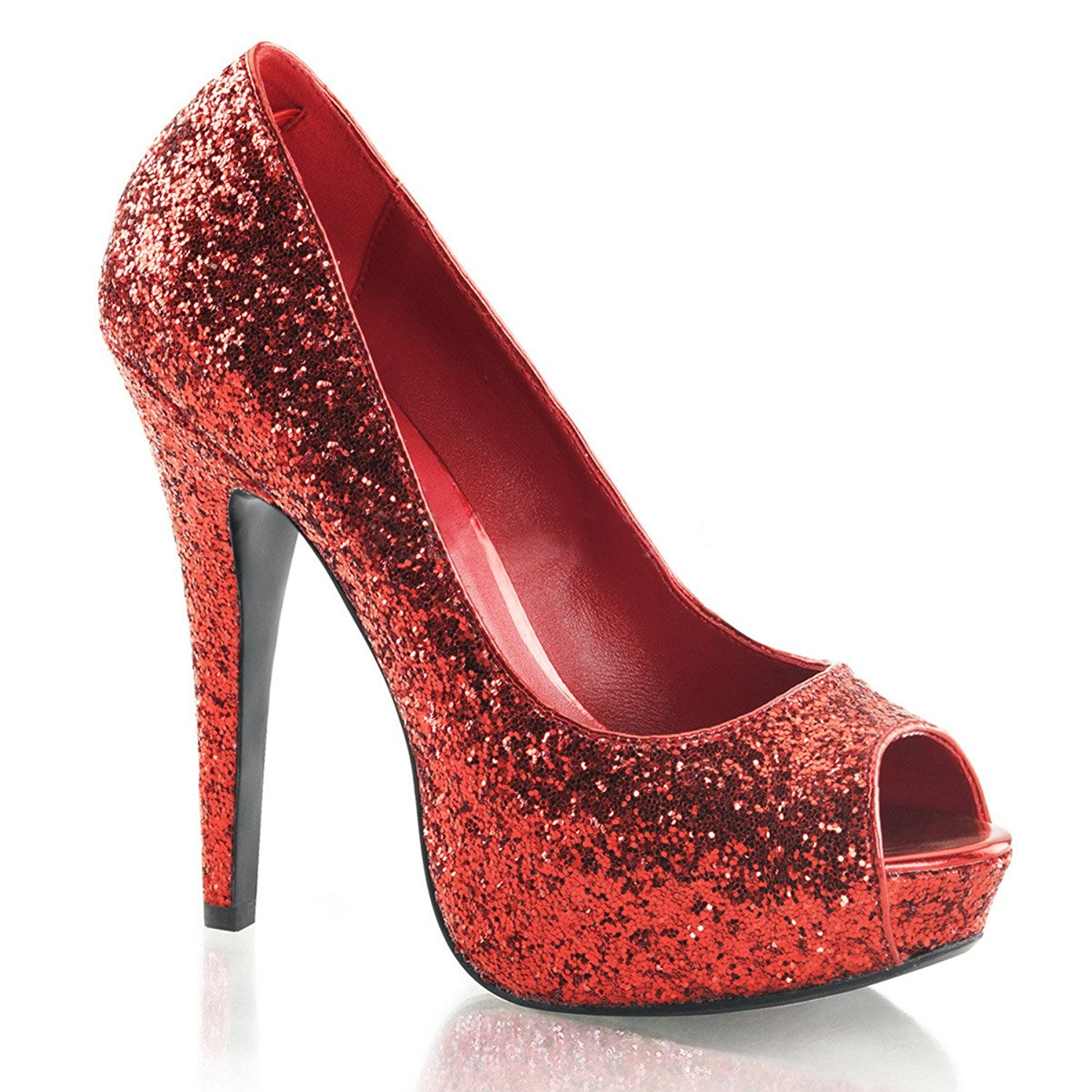 sparkly heels amazon.com | womens red glitter peep toe pumps sparkly shoes with 5 inch sxiluki