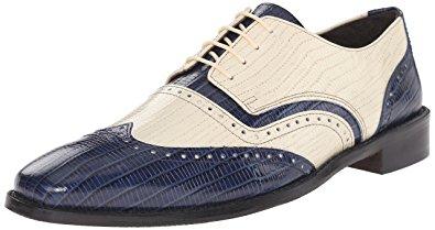 stacy adams shoes stacy adams menu0027s granado oxford,dark blue/ivory,7.5 ... qchvmxo