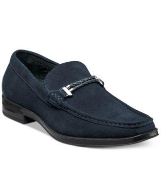 stacy adams shoes stacy adams menu0027s nesbit moc toe braided strap loafers pcwxxjg