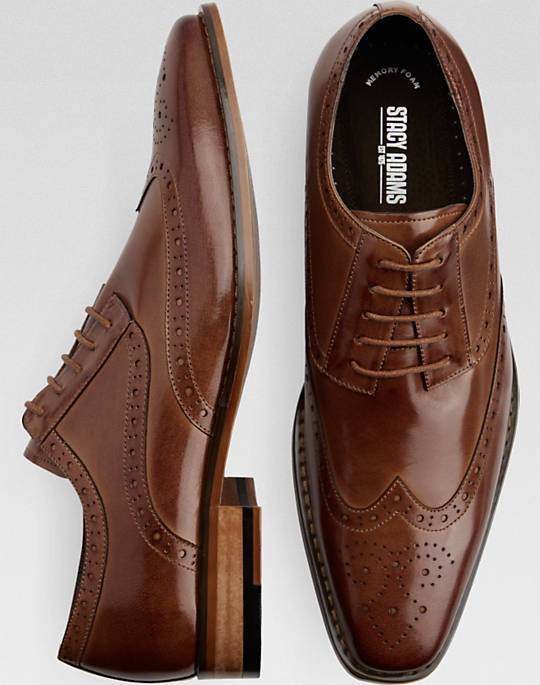 stacy adams shoes stacy adams tinsley tan wingtip oxfords - mens dress shoes, shoes - menu0027s xnrgzsj