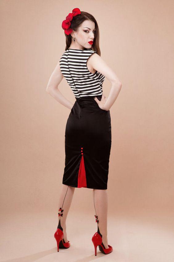 striped dress, rockabilly-style | clothing | pinterest | rockabilly style,  rockabilly and dgrusnd