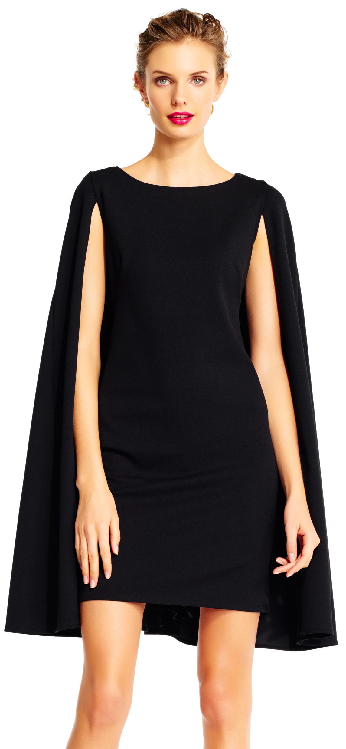 structured cape sheath dress ... scfqtlu