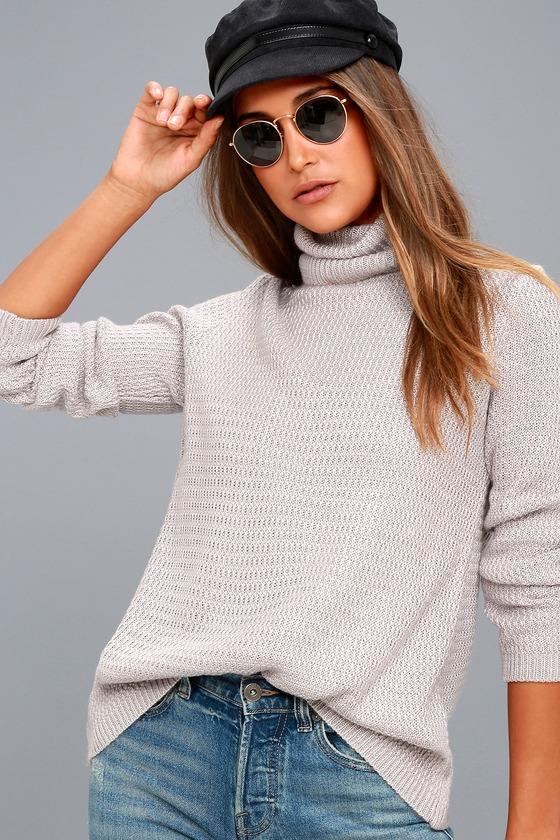 sweet salutation grey turtleneck sweater 2 bxffcro