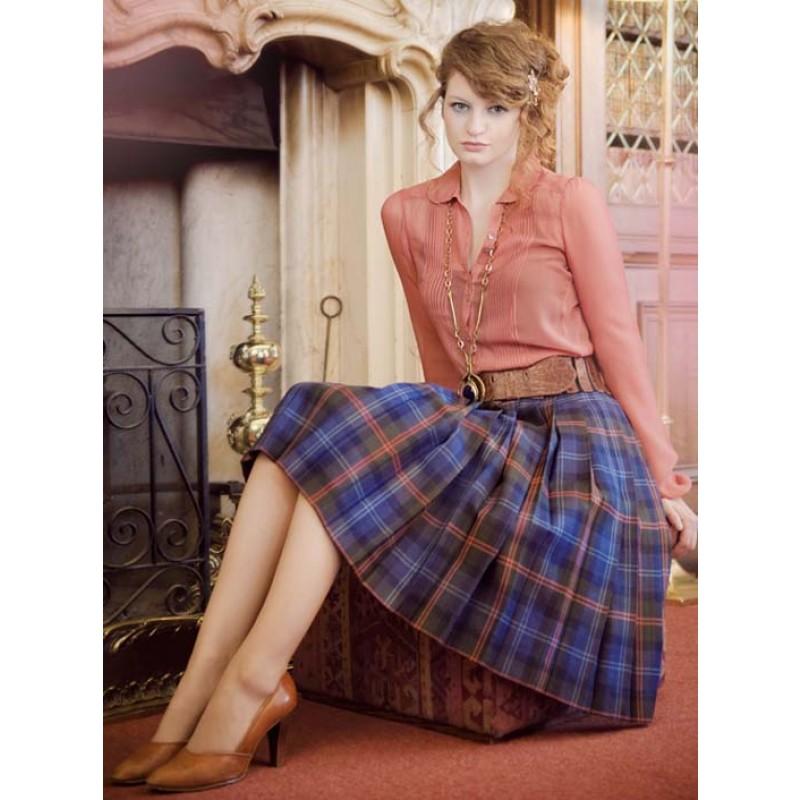 tartan skirt skirt with all round knife pleats smbmeqz