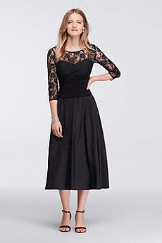 tea length dresses tea length a-line 3/4 sleeves mother and special guest dress - ignite errlkwg