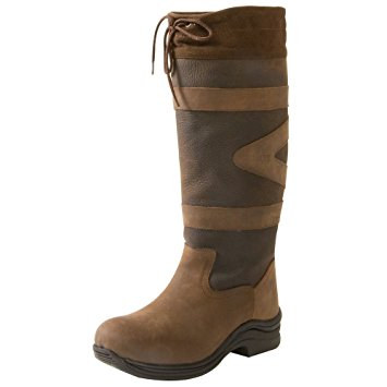 toggi boots toggi canyon riding boot, unisex adults horse riding boots, brown  (chocolate), swduxtt