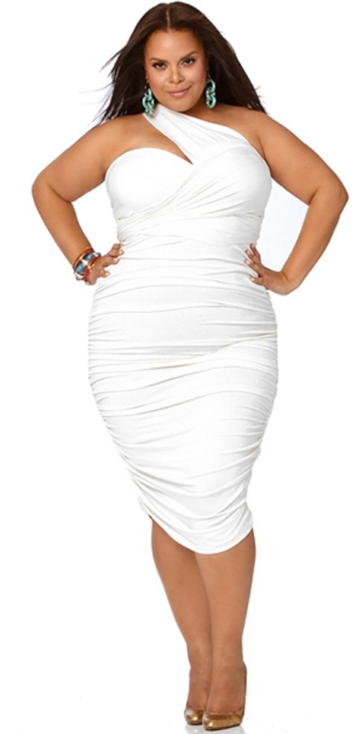 trendy white plus size dresses photo - 1 bygvgxo