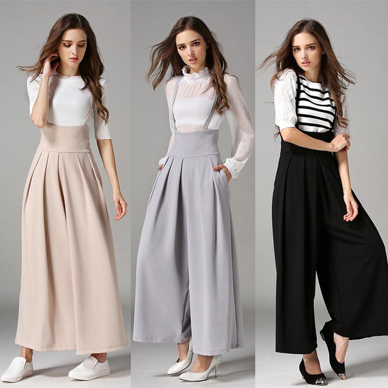 trousers for women uk women casual palazzo high waist career wide leg culottes trousers loose pftifid