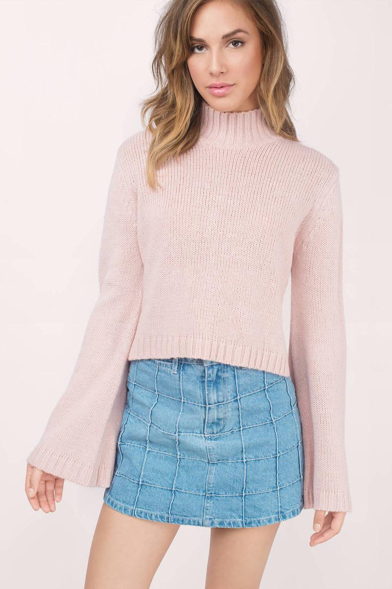 turtleneck sweater benson blush sweater vdugiji
