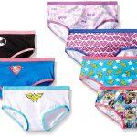 under wear amazon.com: handcraft little girlsu0027 justice league hipster underwear (pack  of 7): girls oencdle