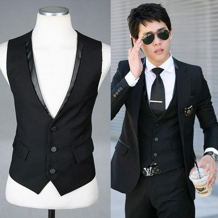 vest for men 2018 fashion vests / men suit vest v collar waistcoat woven vest slim gsopiax