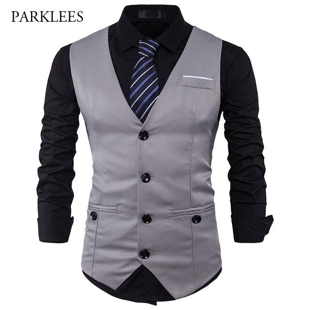 vest for men men suit vest classic v collar dress slim fit wedding waistcoat mens formal otsavhf