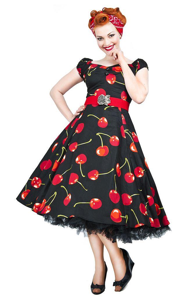 vintage style black cherry stem swing dress   vintage style dresses   vintage mlzjxil