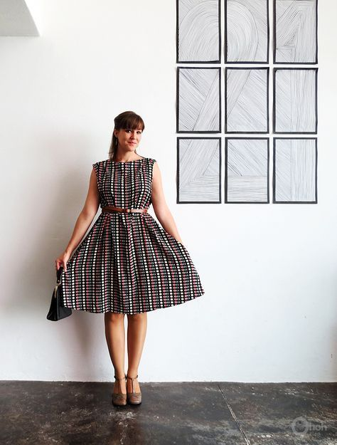 vintage style dresses diy easy 1950s vintage style dress - free sewing pattern / tutorial caivavb