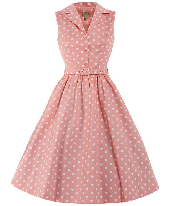 vintage style dresses lindy bop 50u0027s matilda heart hemd kleid pink. vintage dresses ... lwsmmkb