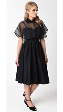 vintage style dresses unique vintage 1940s style black brushed cotton luna swing dress u0026 mesh glkdhda