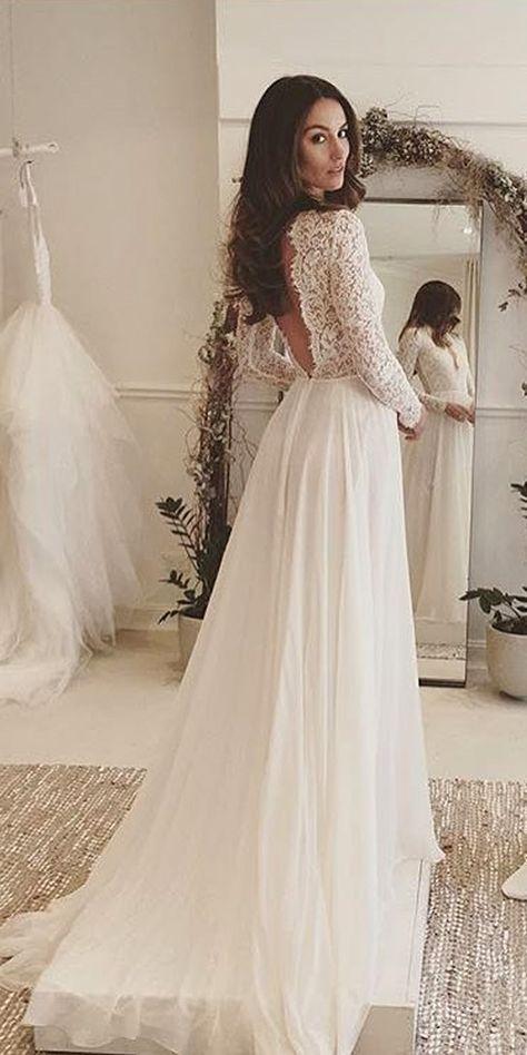 wedding dresses with sleeves bridal inspiration: 27 rustic wedding dresses mdwqntk