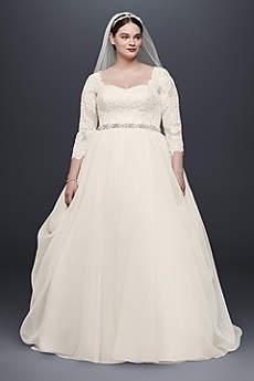 wedding dresses with sleeves long ballgown romantic wedding dress - oleg cassini xdfnvos