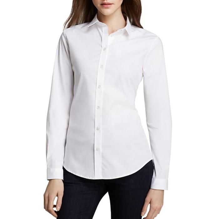 white blouse best white button down shirts - burberry brit basic button down blouse xizpski