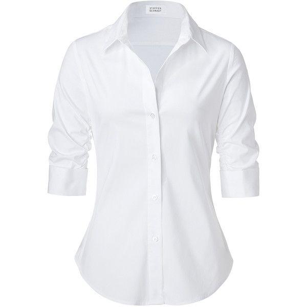 white blouse steffen schraut white valencia fancy blouse via polyvore tyicwye