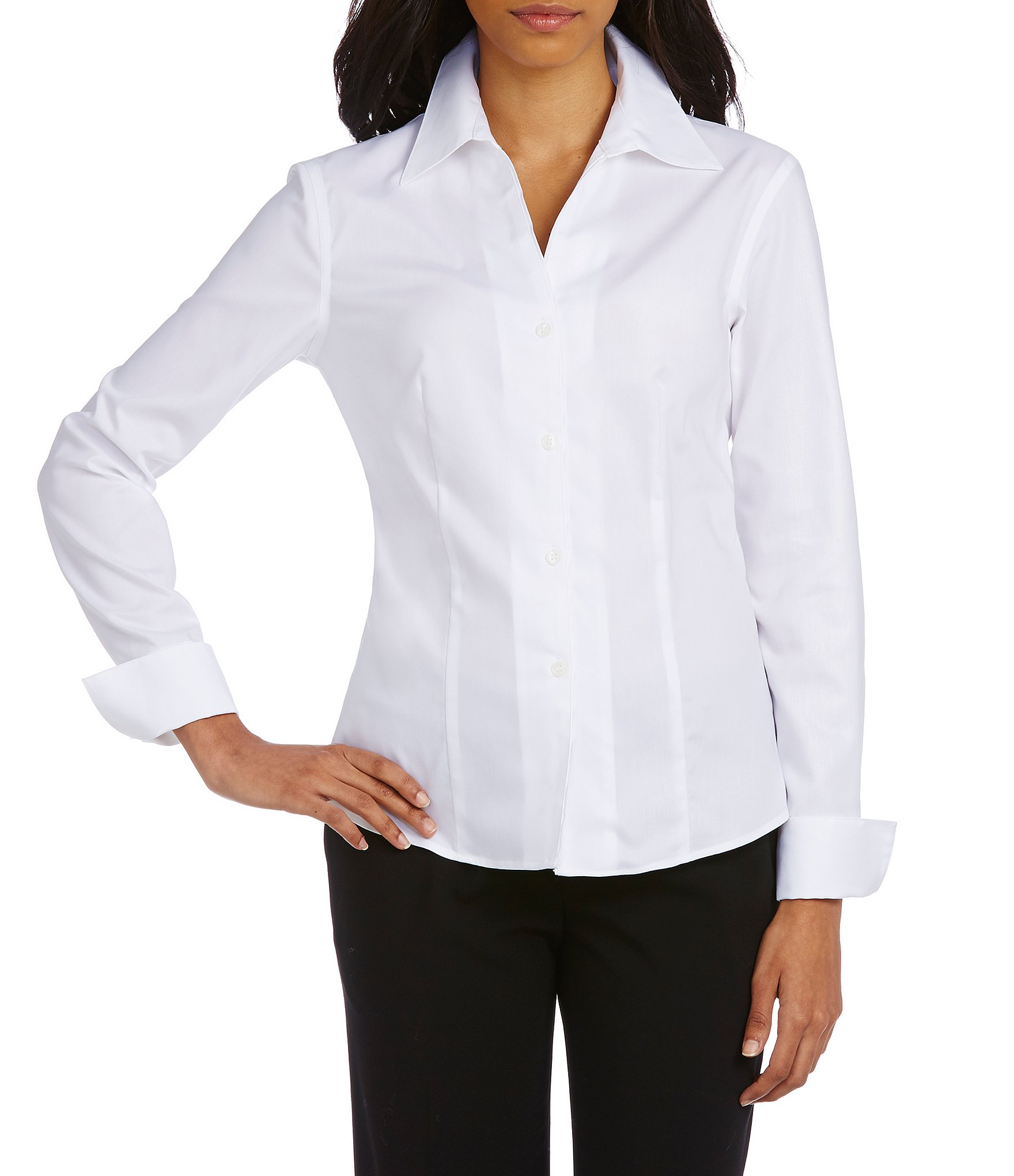 Different ways to wear a white blouse