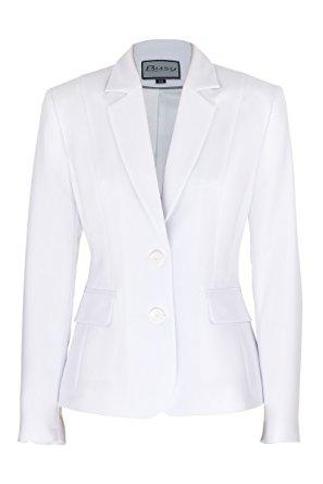 white jacket busy clothing womens white suit jacket - size 10 mtvepxr