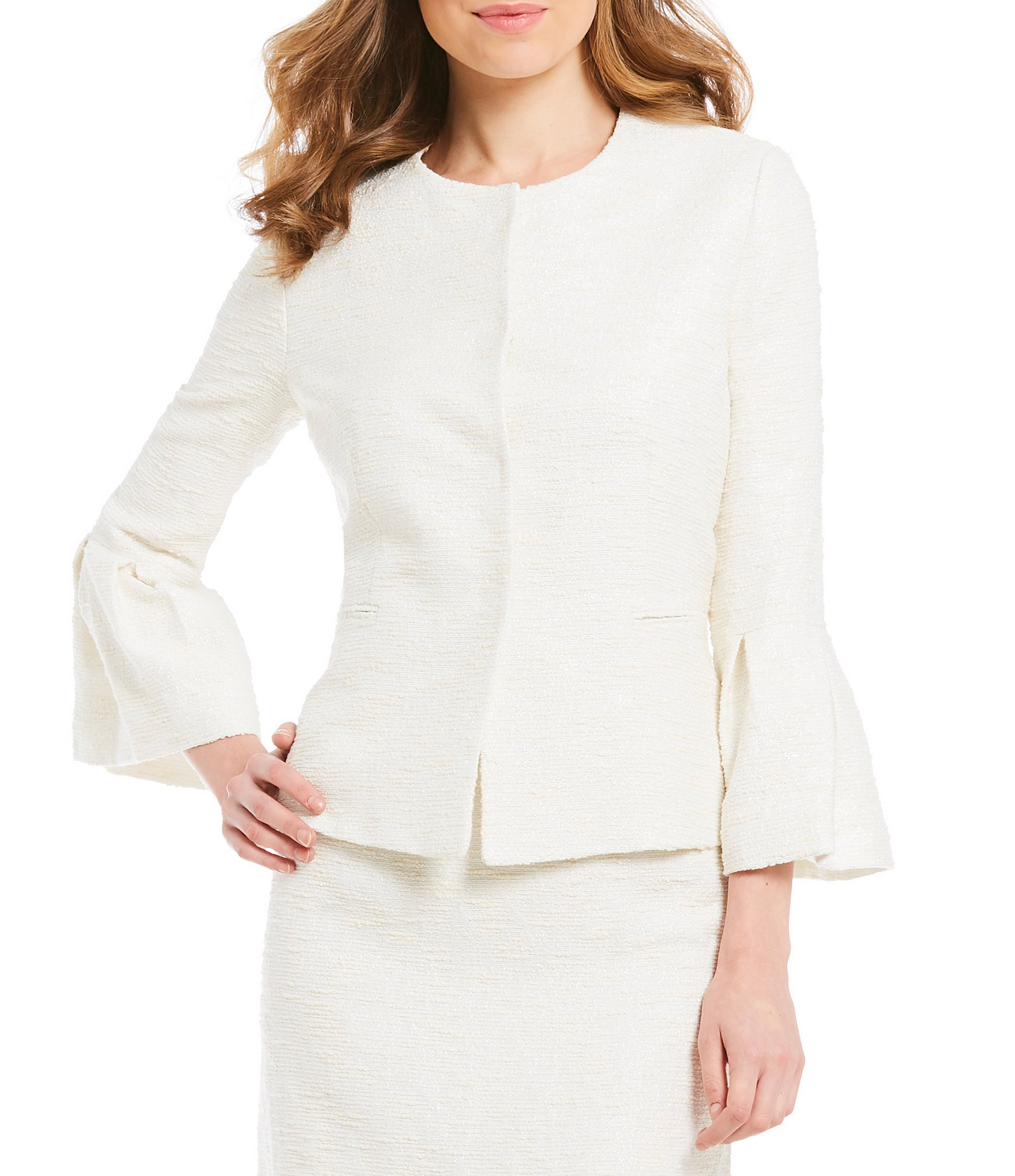 Make a style statement this season with a white jacket