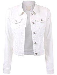 white jacket womens classic casual vintage denim jean jacket ljwnbiz