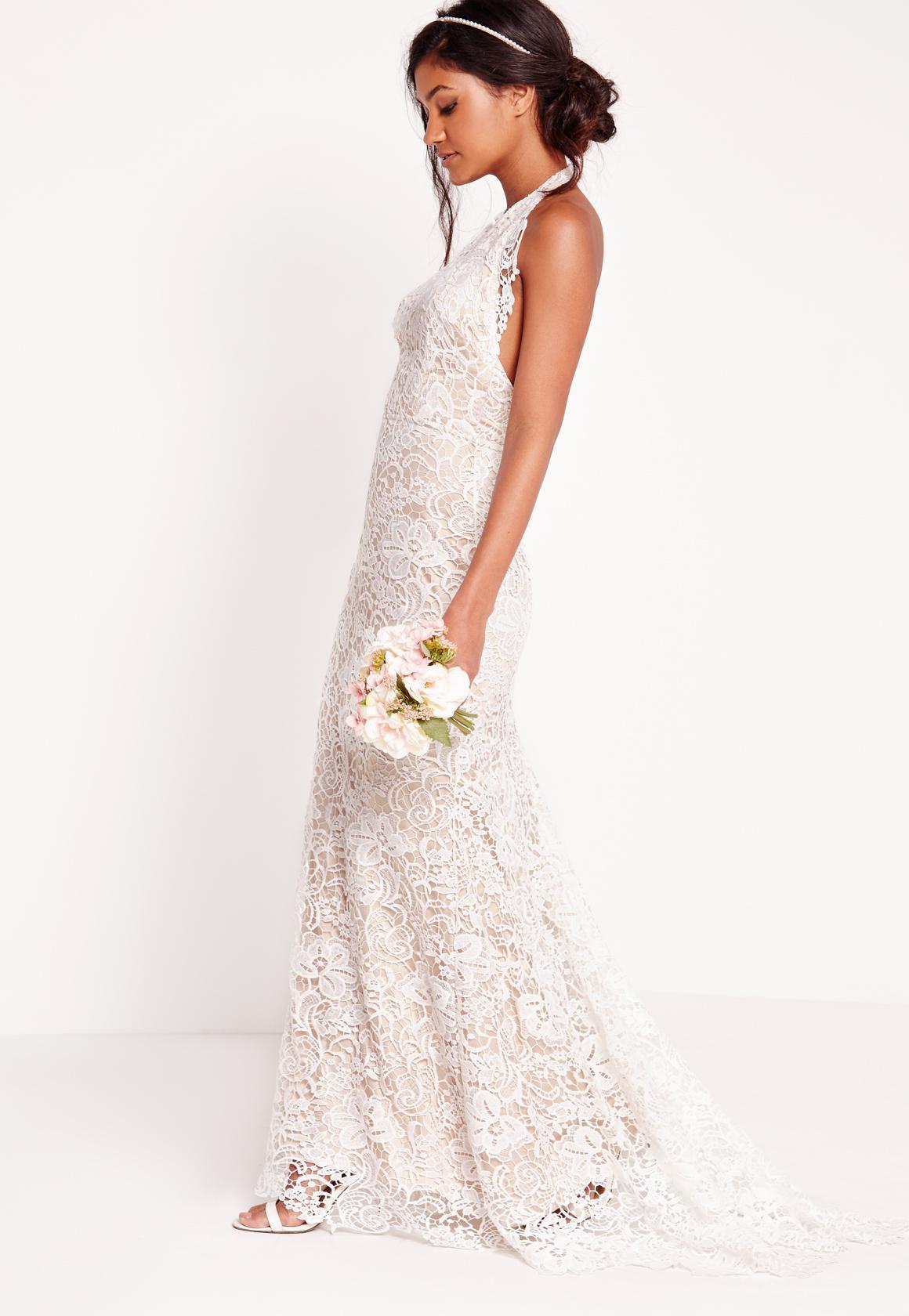white lace maxi dress bridal halter neck lace maxi dress white gxrmphb