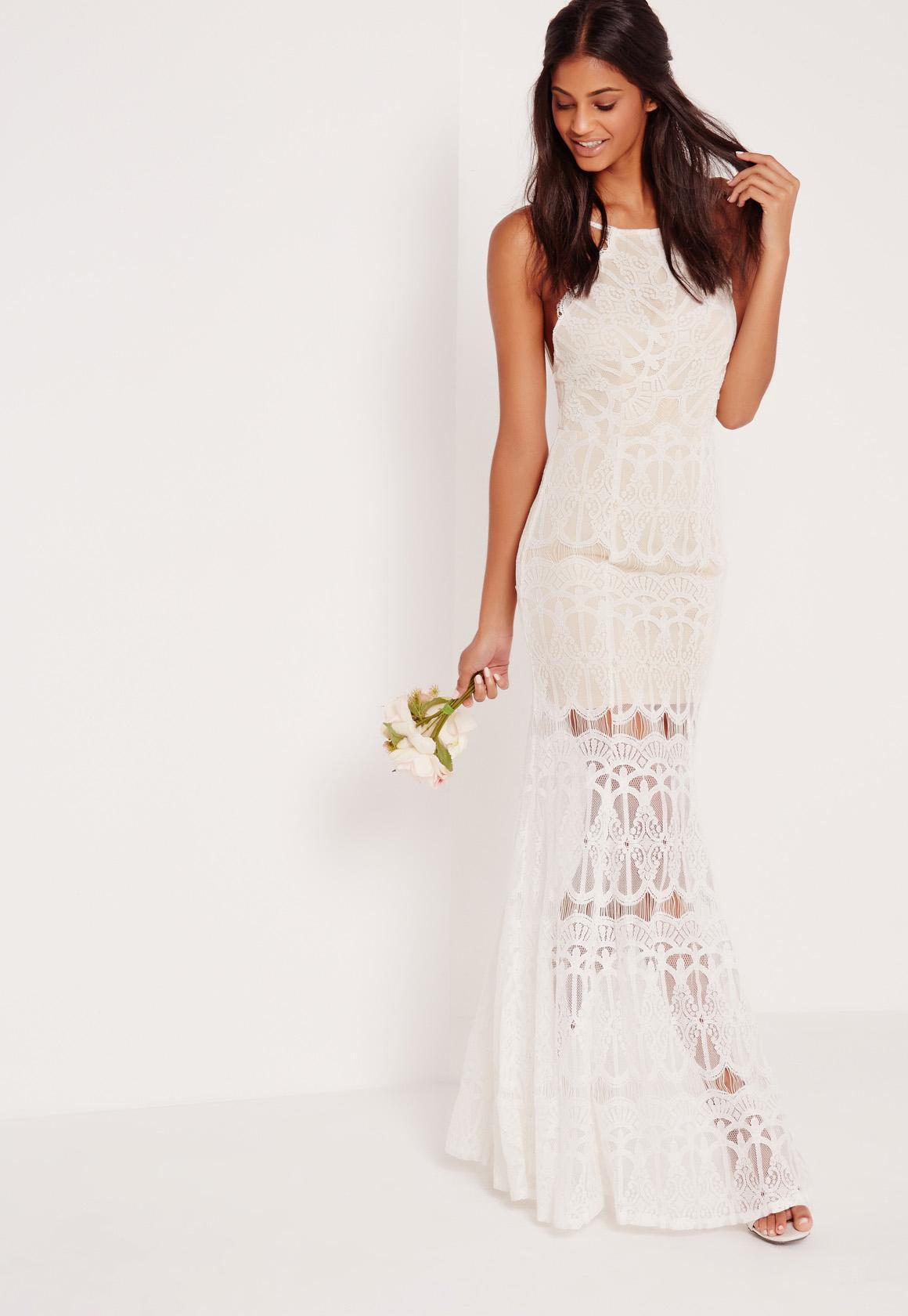 white lace maxi dress high neck scallop lace maxi dress white mtvmznk