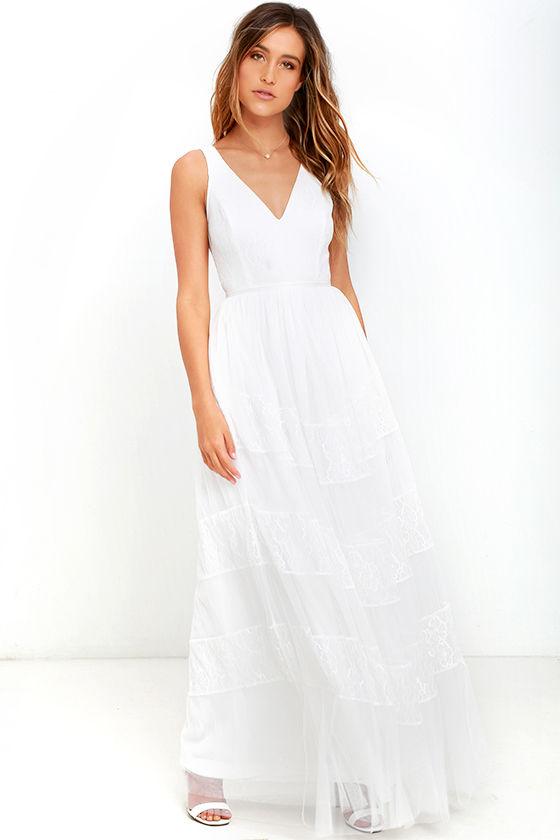 white lace maxi dress lovely white dress - lace dress - maxi dress - $78.00 vcjducw
